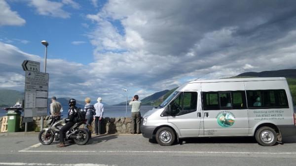 Minibus and Corran ferry