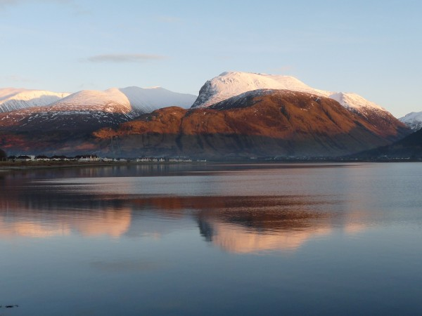 Ben Nevis sunset from Corpach