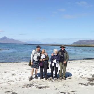 Group on beach Isle of Muck