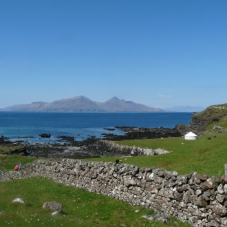 Isle of Muck Rum in background