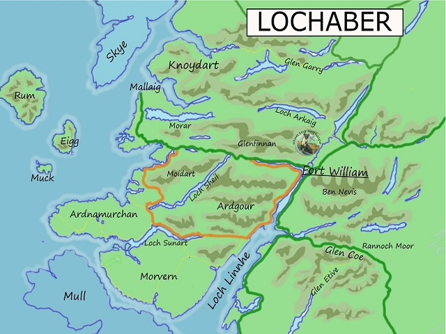 Lochaber Scotland Map.Lochaber Map For Web Site Glenloy Wildlife