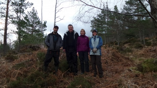 Celebratory walk after purchase of Arkaig Forest by community and WT