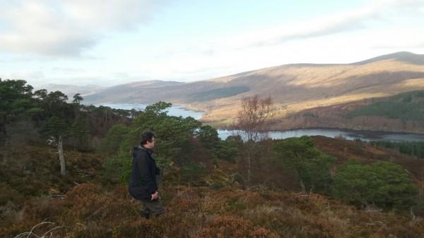 Jon in Arkaig Forest looking over Loch Arkaig